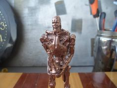 T-800, Copper chess piece TERMINATOR, chess set, Rook, metal figure, endoskeleton, statuette, character, souvenir, gift, hero, board game by MikeMetalMiniatures on Etsy