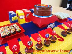 Superman Party Buffet