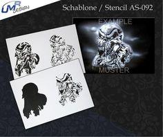 Step by Step Airbrush Stencil AS-209 Drache ~ Template ~ UMR-Design