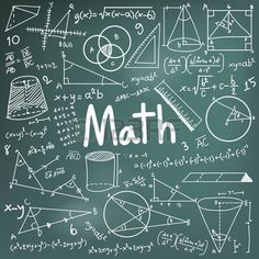 50745254-math-theory-and-mathematical-formula-equation-doodle-handwriting-icon-in-blackboard-background-with-.jpg (450×450)