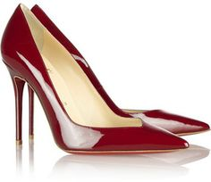 Christian Louboutin Completa 100 patent-leather pumps on shopstyle.com