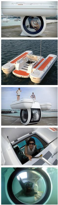 Personal submarine boat.