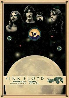 Pink Floyd - Empire Poll - Belo Horizonte (May Pink Floyd Poster, Pink Floyd Art, Pink Floyd Dark Side, Tour Posters, Band Posters, Music Posters, Music Love, Rock Music, Add Music
