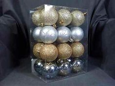 New 24 Piece Decorative Shaterproof Round Hanging Ornaments - Was $19.99