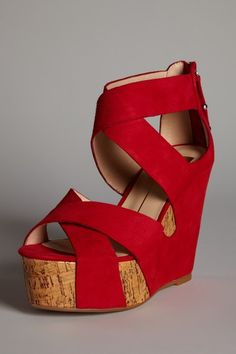 Cute - although I've said before I'm not a huge wedge fan. I like how the fabric covers most of the cork sole (as I'm not a huge cork fan either).
