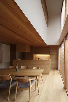 Modern Japanese Interior, Japanese Modern, Japanese Design, Home Interior Design, Interior Architecture, Interior Decorating, Natural Interior, Dining Table Chairs, Architect Design