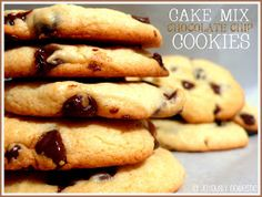 """The kids were wanting to bake some chocolate chip cookies this week.  I, on the other hand, was so over the whole baking """"thing"""" due to a..."""