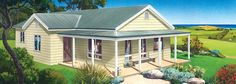 Kiama Facade - Paal Kit Homes offer easy to build steel frame kit homes for the owner builder and have display / sale centres in Sydney NSW, Melbourne VIC, Brisbane QLD, Townsville NTH QLD, Perth WA.