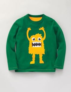 Put a monster on the back of a sweatshirt