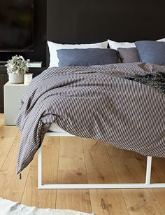 Abode Living - Quilt Covers - Union Ticking Cotton Quilt Cover - Abode Living