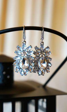 Teardrop Jewels Crystal Drop Earrings  Bridal by VintagePinch, $58.99 #etsy #loveit #handmade #wedding #bridal #want #musthave #new #blogger #fblogger #blogger #springtrends