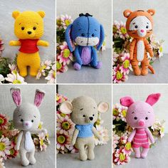 Winnie the Pooh Gifts for girl and boy toys amigurumi Gift for girl and boy Eyore Eeyore Rabbit Piglet Tigger Disney figurines collectibles Eeyore, Tigger Disney, Crochet Patterns Amigurumi, Crochet Dolls, Pet Toys, Baby Toys, Winnie The Pooh, Farm Animal Nursery, Disney Figurines