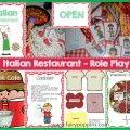Italian Restaurant Role Play Pack ~ Fairy Poppins Dinosaur Museum, Dinosaur Dig, Role Play, Pretend Play, Dramatic Play Centers, Vet Clinics, Play Centre, Fairy, Teddy Bear