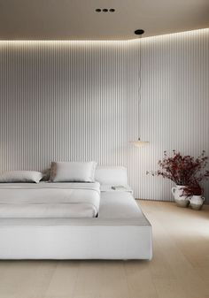 AP I white sand on Behance Small Apartment Interior, Home Interior Design, Interior Architecture, Home Bedroom, Bedroom Decor, Light Bedroom, Interior Minimalista, Minimalist Interior, White Decor