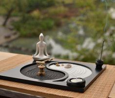 A exposição Art decoração Zen Yoga fofocas casa de chá café Micro paisagem paisagem seca decoração placa areia em Castiçais de Casa e Jardim no AliExpress.com | Alibaba Group