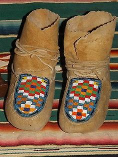 American Indian Beaded Moccasins | eBay