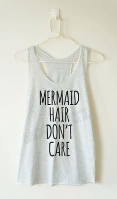 Mermaid hair don't care tshirt funny tshirt cool by MoodCatz