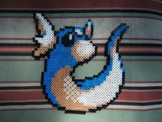 Dratini Perler Bead Ornament Decoration Decor by TeamRocketWolf