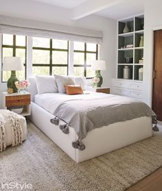 Shop Lea Michele's House: How to Get Her Modern Organic Style at Home - GUEST ROOM from InStyle.com