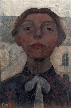Paula Modersohn-Becker · Autoritratto · 1900 · Ubicazione ignota