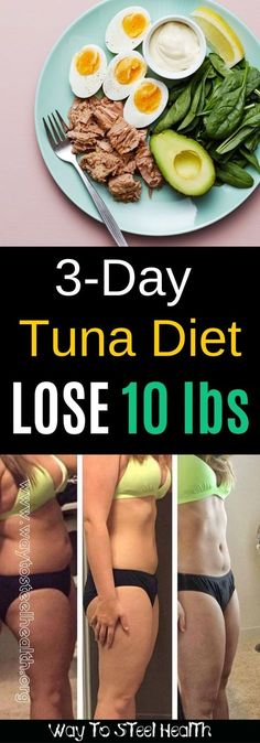 tuna diet for weight loss! This is similar to the boiled egg diet. How To Lose 10 Pounds Fast tuna diet for weight loss! This is similar to the boiled egg diet but even. Diet Food To Lose Weight, Weight Loss Meals, How To Lose Weight Fast, Weight Gain, Healthy Weight, Healthy Meals, Healthy Recipes, Body Weight, Weight Loss Diets