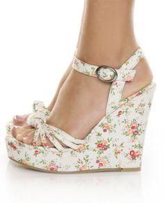 Floral Wedge Sandals