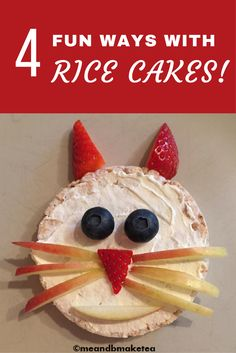 Rice cakes are great because they are so versatile! B loves them as a sweet snack and also as a savoury snack. Check out these super cute but quick and easy rice cake snacks for children!
