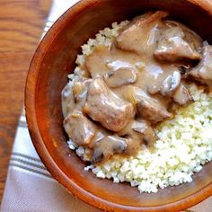 **Recipe has been updated to include Instant Pot directions! Tender beef slow cooked in a creamy mushroom sauce, and served over a bed of cauliflower rice for a simple weeknight dinner. This variation of beef stroganoff is also dairy-free, Paleo, and Whole 30 compliant! Oh hey guys, just serving up a more nutritious and easier... Get the Recipe