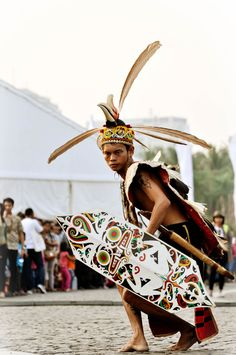 Indonesia. Dayak Dance.
