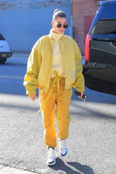 Yellow Outfits hailey baldwin steps out in a monochromatic yellow outfit Yellow Outfits. Here is Yellow Outfits for you. Yellow Outfits sexy yellow royal blue two piece sheer color block casual outfit. Hailey Baldwin, Clueless Outfits, Monochrome Outfit, Looks Street Style, Casual Outfits, Fashion Outfits, Colourful Outfits, Yellow Outfits, Mellow Yellow