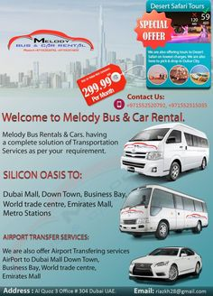 Melody bus and car rental is the one of bus and car rental company in Dubai.