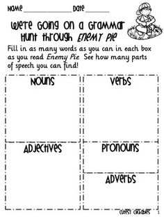 This worksheet is a freebie from our Enemy Pie UnitClick the link above to check out the full unit! Please leave us feedback if you download this product!Also, follow our store for updates on more freebies and new downloads by clicking follow at the top of the page.Also, for more ideas, check out our teaching blog: Collaboration CutiesThanks,Stacia and Amanda