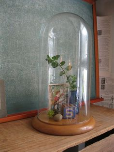 Antique Glass Display Dome - Bell Jar - Cloche