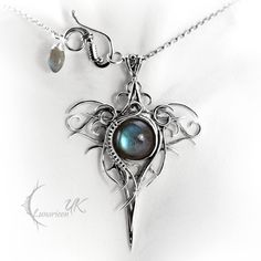 OZZAGIS - silver and labradorite by LUNARIEEN.deviantart.com on @deviantART