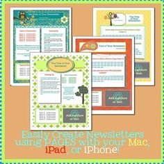 Wow! I can create on my iPad and iPhone now! These time-saving, modern newsletter templates will take your newsletters to the next level. They are fun and super easy to use! Just open and type or add pictures. That's it!