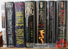 The 7 Dark Tower books by Stephen King. The library took a month to get book 4 in... the suspense almost killed me.