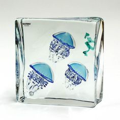 6017: Barbini for Murano art glass block : Lot 6017