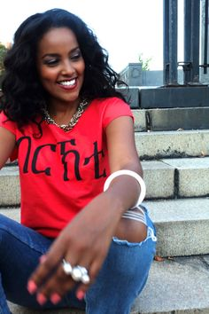 Eritrean Blessed Terry Dolman Vibrant Red by BurntSunApparel