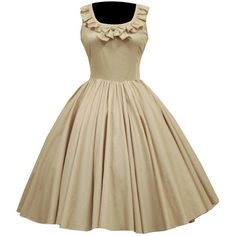 Partiss Womens Vintage Sleeveless Sweet Classic Lolita Dress ($97) ❤ liked on Polyvore featuring dresses, no sleeve dress, brown vintage dress, sleeveless dress, vintage day dress and brown dress