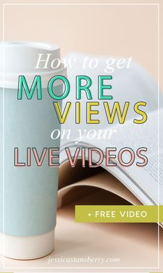 How to Get More Views on Your Live Videos. It is NO fun to go live on Facebook, YouTube, etc and have no one be there.. There's no interaction, and you are afraid people won't like it when they do watch it (I know because I've been there!)  No worries. I