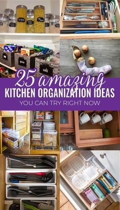 My kitchen is in desperate need of some decluttering and organization. Definitely saving these genius kitchen organizing tips and ideas to try later.