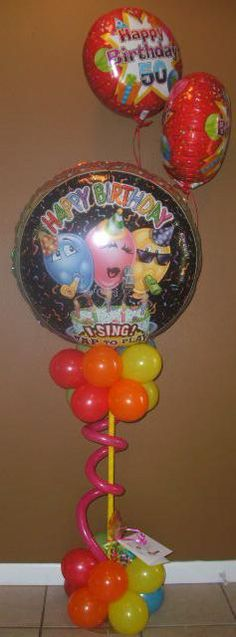 Air Filled Singing Balloon Bouquet