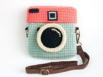 Crochet Diana Colorful Pastels Purse Size 6.5 inch by meemanan