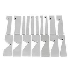 17pcs Hardened Steel Precision Angle Blocks Set Lathes Milling Toolmaker