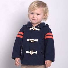 Aliexpress.com : Buy Brand 2016Spring Autumn infant toddler baby kid boy hooded coat jackethorn button England patchwork child baby boy clothes12M 6T from Reliable baby deer baby shoes suppliers on QieKeKids Store