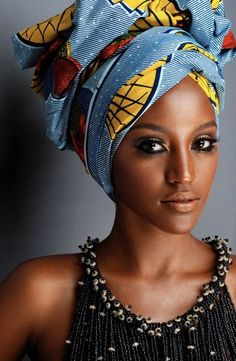 Head Wraps are worn by both African and African American women. Head wraps will forever be in fashion and look sexy on any woman. My Black Is Beautiful, Beautiful People, Beautiful Women, Beautiful Hijab, Beautiful Pictures, African Beauty, African Fashion, African Style, Ankara Fashion