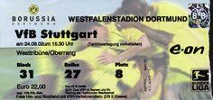 Borussia Dortmund - VfB Stuttgart, 24.8.2002, Westfalenstadion, Dortmund #BVB #VfB #Dortmund #Ticket