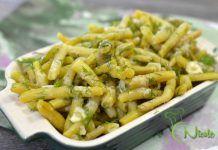 SALATA DE FASOLE GALBENA CU USTUROI Pasta Salad, Green Beans, Vegetables, Ethnic Recipes, Food, Fine Dining, Salads, Crab Pasta Salad, Essen