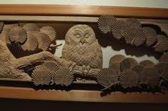 An owl motif | Japanese ramma wood carving art | Pinterest