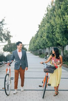 Bright + vibrant outfits make for the most playful engagement photos | image by Celeste Noche